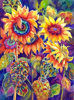 Sunflower Garden by Ann  Nicholson