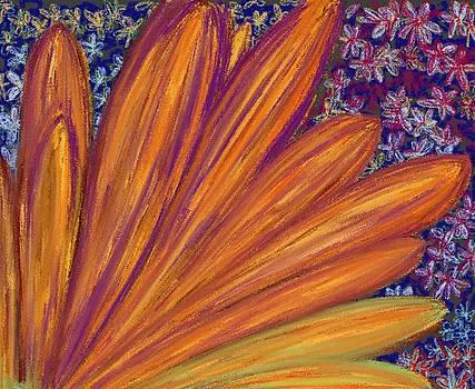 Sunflower petals by Jodi Eaton