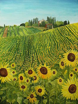 Sunflower Salute by Connie Rowsell