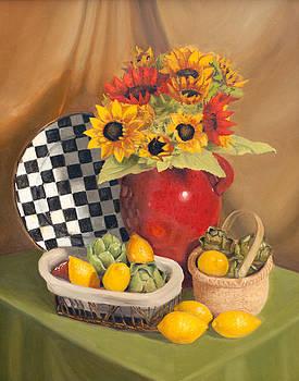 Sunflower Still Life by Jamie Pogue