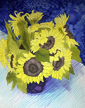 Sunflower Vase by Sara Bell
