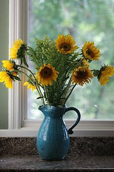 Sunflower Window by Paula Rountree Bischoff