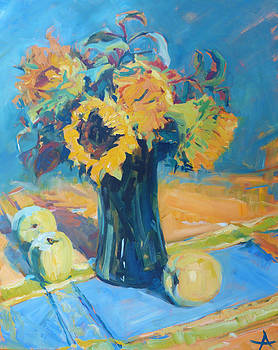 Sunflowers by Azhir Fine Art