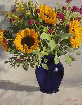 Sunflowers and Clover by Sarah Blumenschein