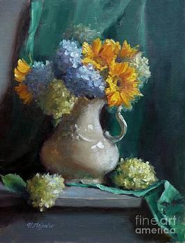 Sunflowers and Hydrangeas by Viktoria K Majestic