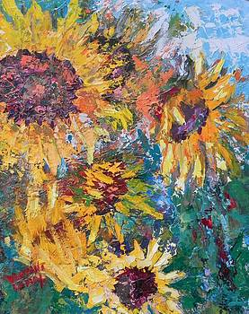 Sunflowers Close-up by Nancy LaMay