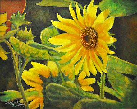 Sunflowers in Garden by Eileen  Fong