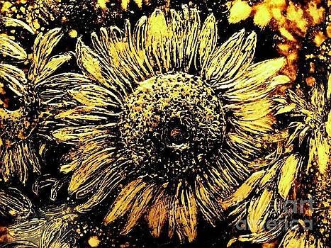 Sunflowers In Gold by Nelu Gradeanu