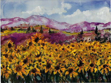Sunflowers in Provence by Elaine Elliott