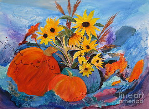 Sunflowers In The Fall by Barbara Petersen