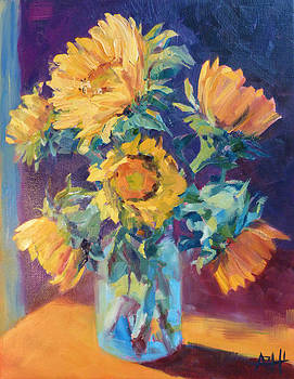 Sunflowers in the Light by Azhir Fine Art