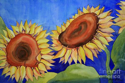 Shirin Shahram Badie - Sunflowers in the Wind