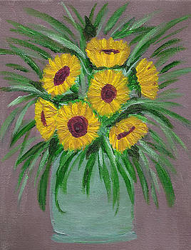 Sunflowers in Vase by Faye Giblin