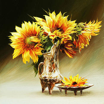 Sunflowers by Jihong  Shi
