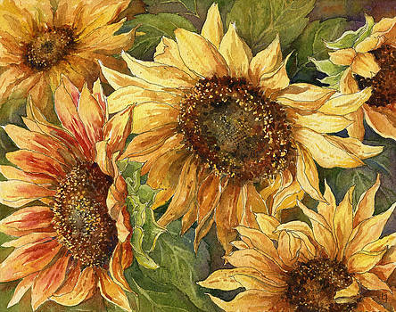 Sunflowers by Leslie Fehling