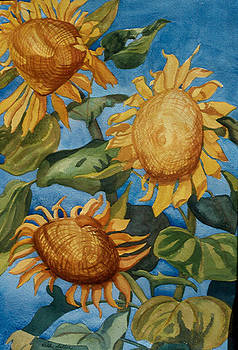 Ruth Soller - Sunflowers watercolor
