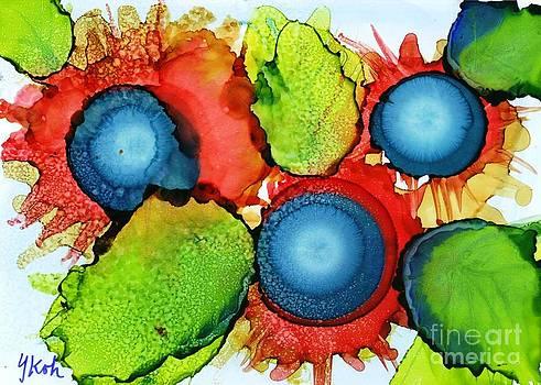 Cactus Flowers by Yolanda Koh