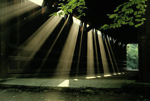 Sunlight Rays Coming Through Roof by Vintage Images