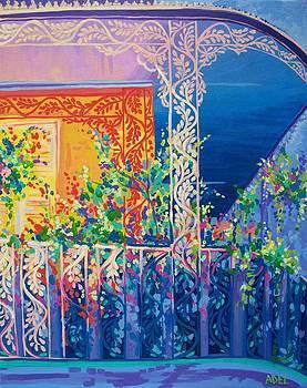 Sunlit Balcony by Elaine Adel Cummins