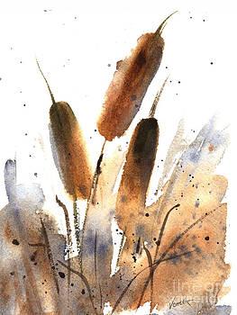 Sunlit Cattails by Vickie Sue Cheek