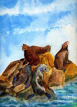 Ellen Miffitt - Sunning Harbor Seals