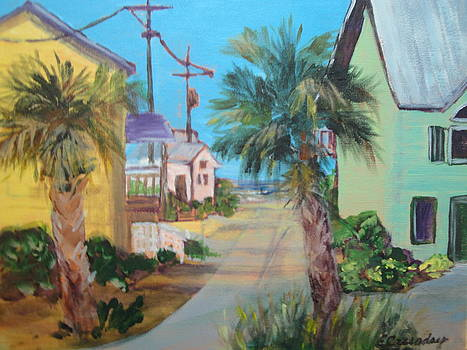 Sunny Beach Street by Evelyn Cassaday