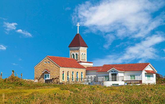Sunny day church by Calvin Chan