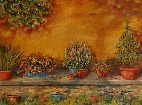 Sunny Sideyard by Dorothy Allston Rogers