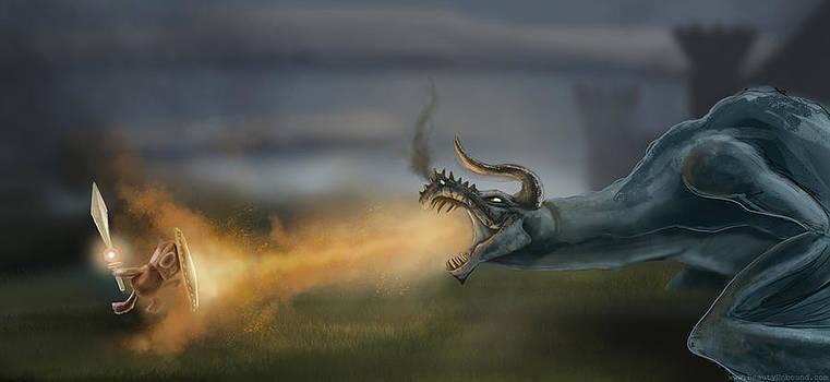 Sunny VS The Dragon by Joseph  Davis