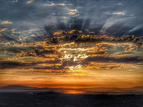 Sunrays over San Pablo Bay by Brian Maloney