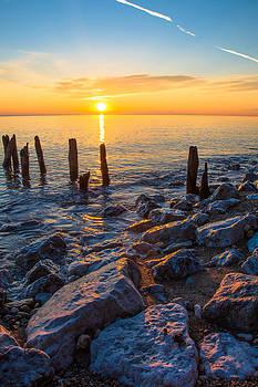 Sunrise 10-20-13 Lake Michigan by Michael  Bennett