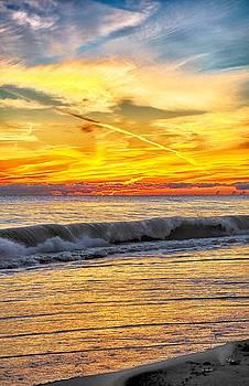 Sunrise 10-27-13 Lake Michigan by Michael  Bennett