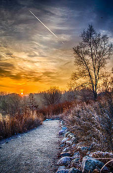 Sunrise 12-2-13 Frost North of Chicago by Michael  Bennett