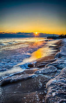 Sunrise 12-7-13 Lake Michigan by Michael  Bennett