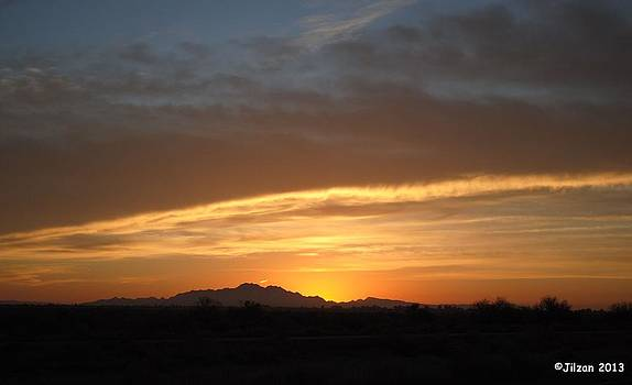 Sunrise Along I-10 by Jill Baum