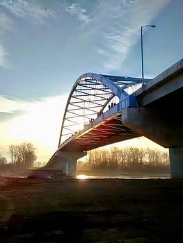 sunrise and the Amelia Earhart bridge. by Dustin Soph