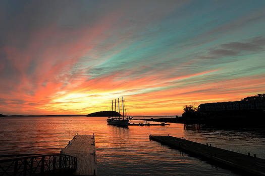 Sunrise at Bar Harbor Maine by Dick Wood
