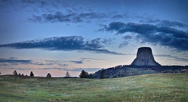 Sunrise at Devils Tower in Wyoming by Victoria Porter