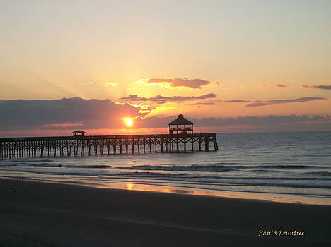 Sunrise at Folly Beach by Paula Rountree Bischoff