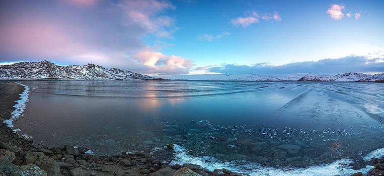 Sunrise at Kleifarvatn - Iceland by Arnar B Gudjonsson