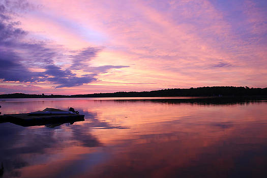 Sunrise at Lake Chesley Ontario by Alastair Wallace