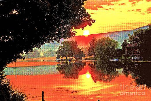 Sunrise at Little York by Fred L Gardner