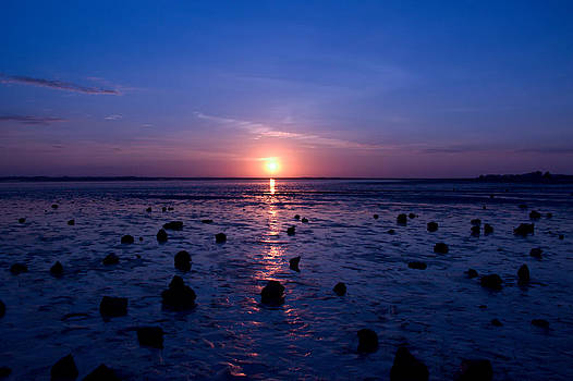 Sunrise at Low tide by Robert Bascelli