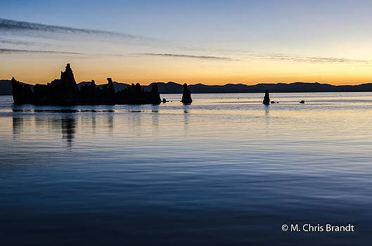Sunrise at Mono Lake by M Chris Brandt