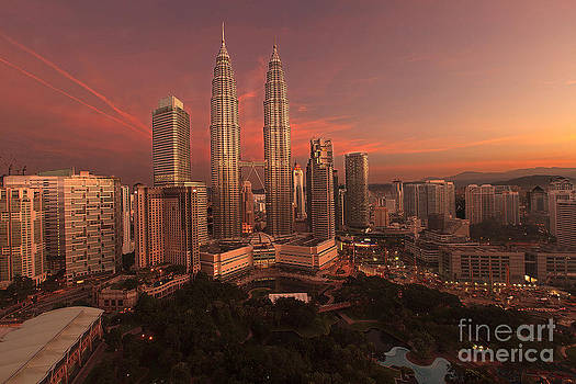 Sunrise at Petronas Towers by Pete Reynolds