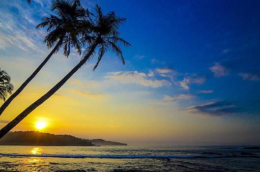 Sunrise at Sawarna Beach by Erwin Sembiring