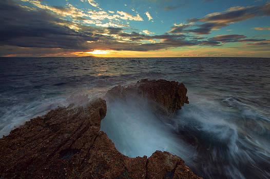 Sunrise at sea by Davorin Mance