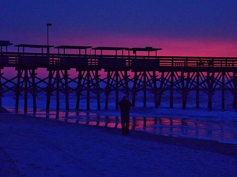 Sunrise at Surfside Pier by Stacy Sikes