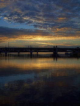 Sunrise at Tempe Town Lake by Elaine Snyder