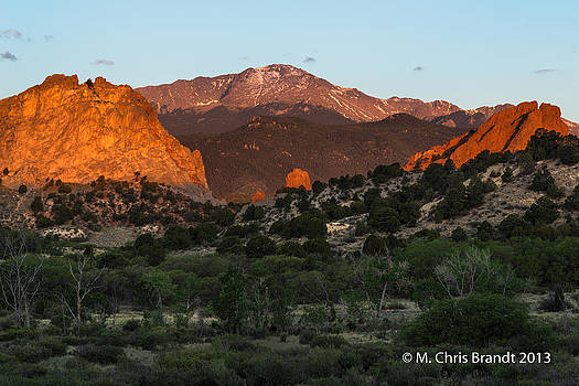 Sunrise at The Garden of the Gods by M Chris Brandt
